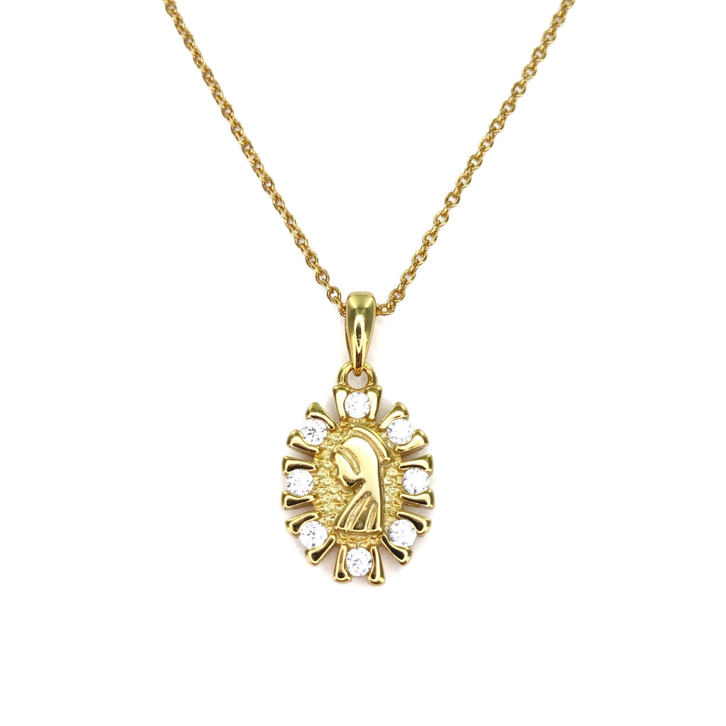'ELLEN' VIRGIN MEDAL NECKLACE
