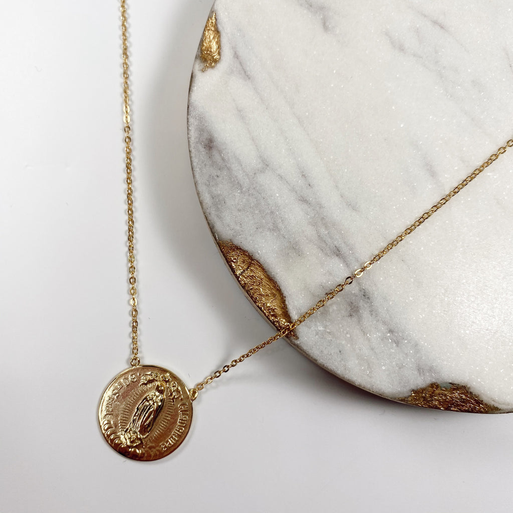 Religious Coin Necklace