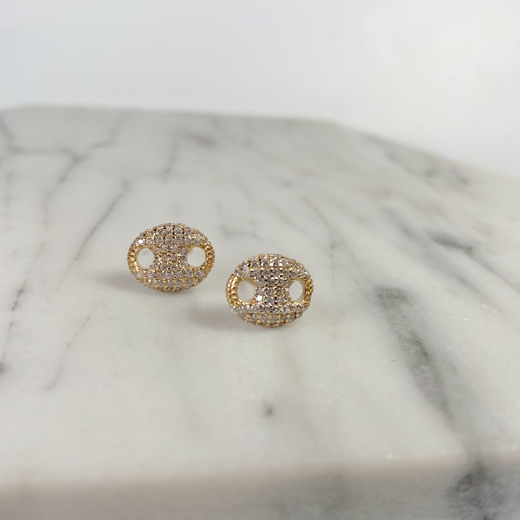 Gucci pave earrings