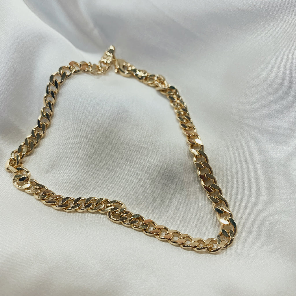 Thin cuban anklet