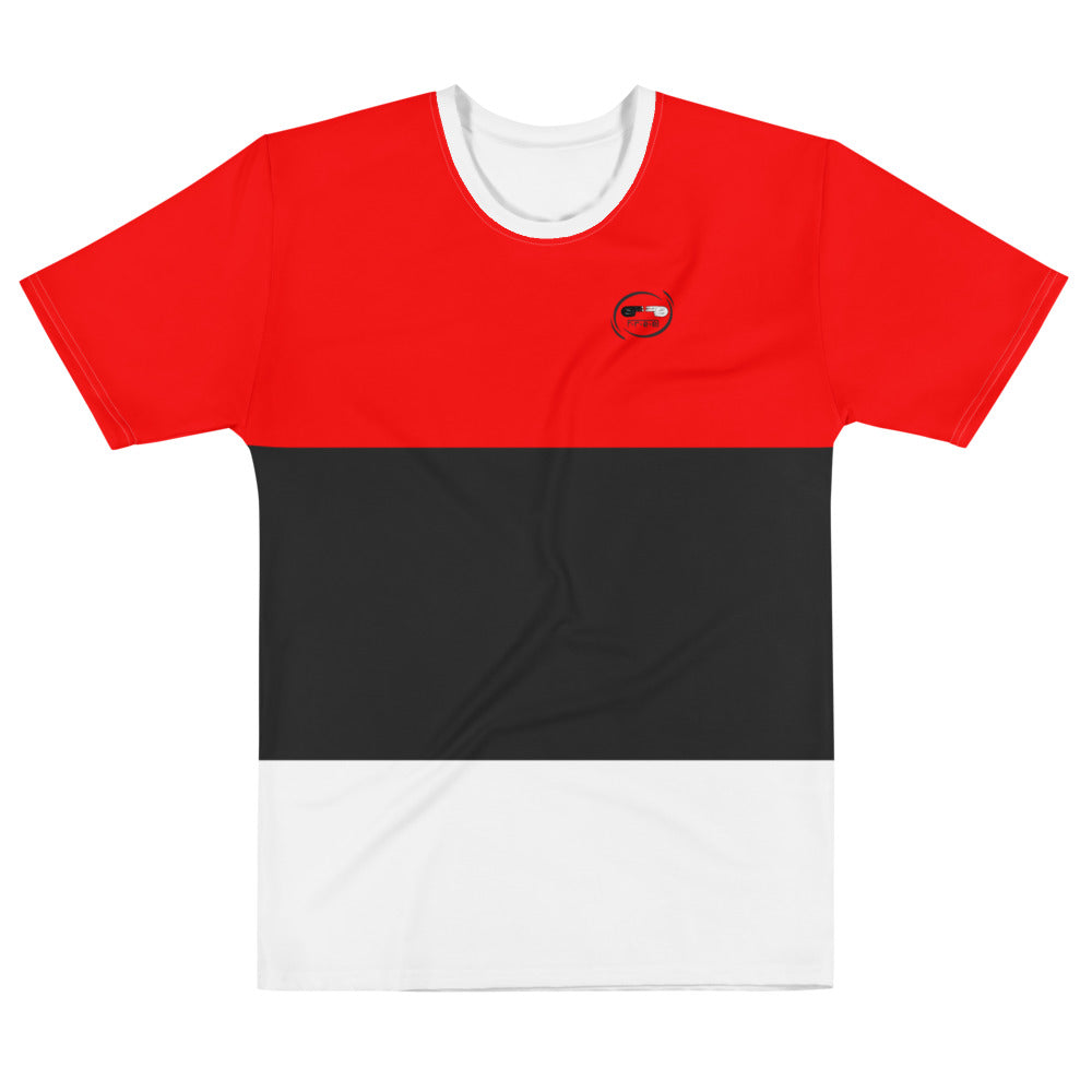 F.r.e.e red, black and white t-shirt