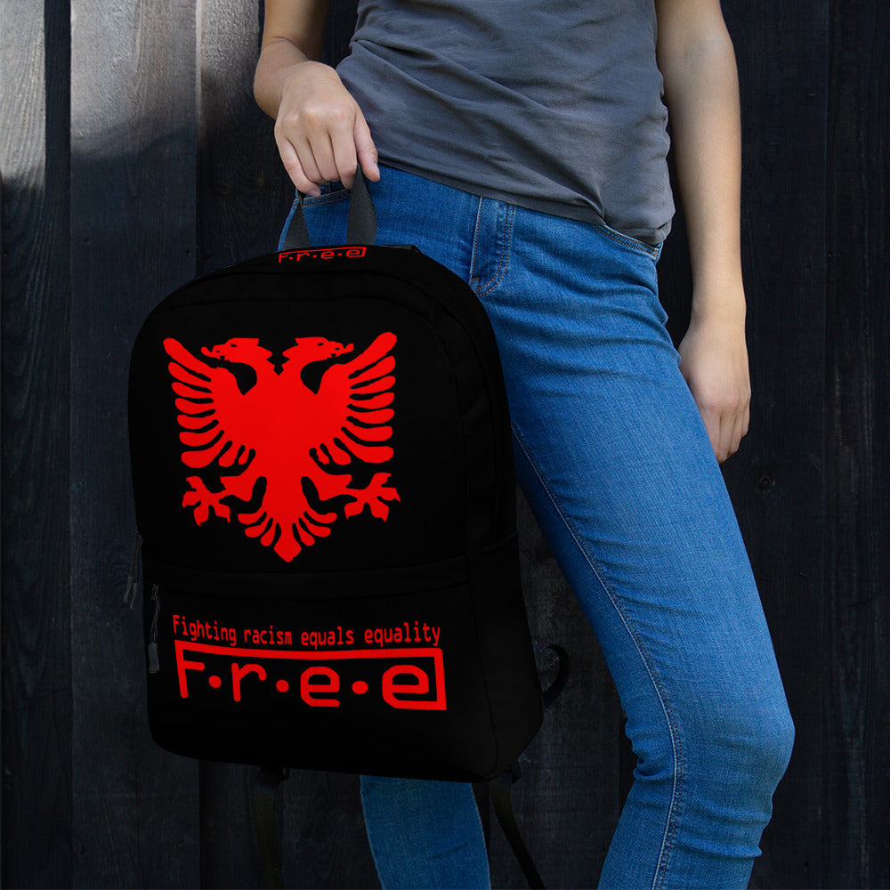 Albanian black free backpack