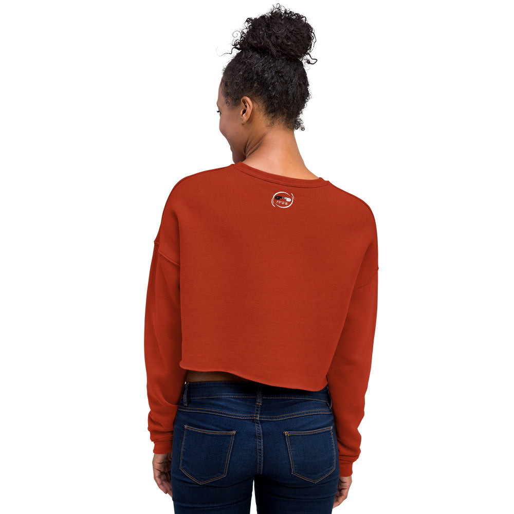 Free black Women's Fleece Crop Sweatshirt