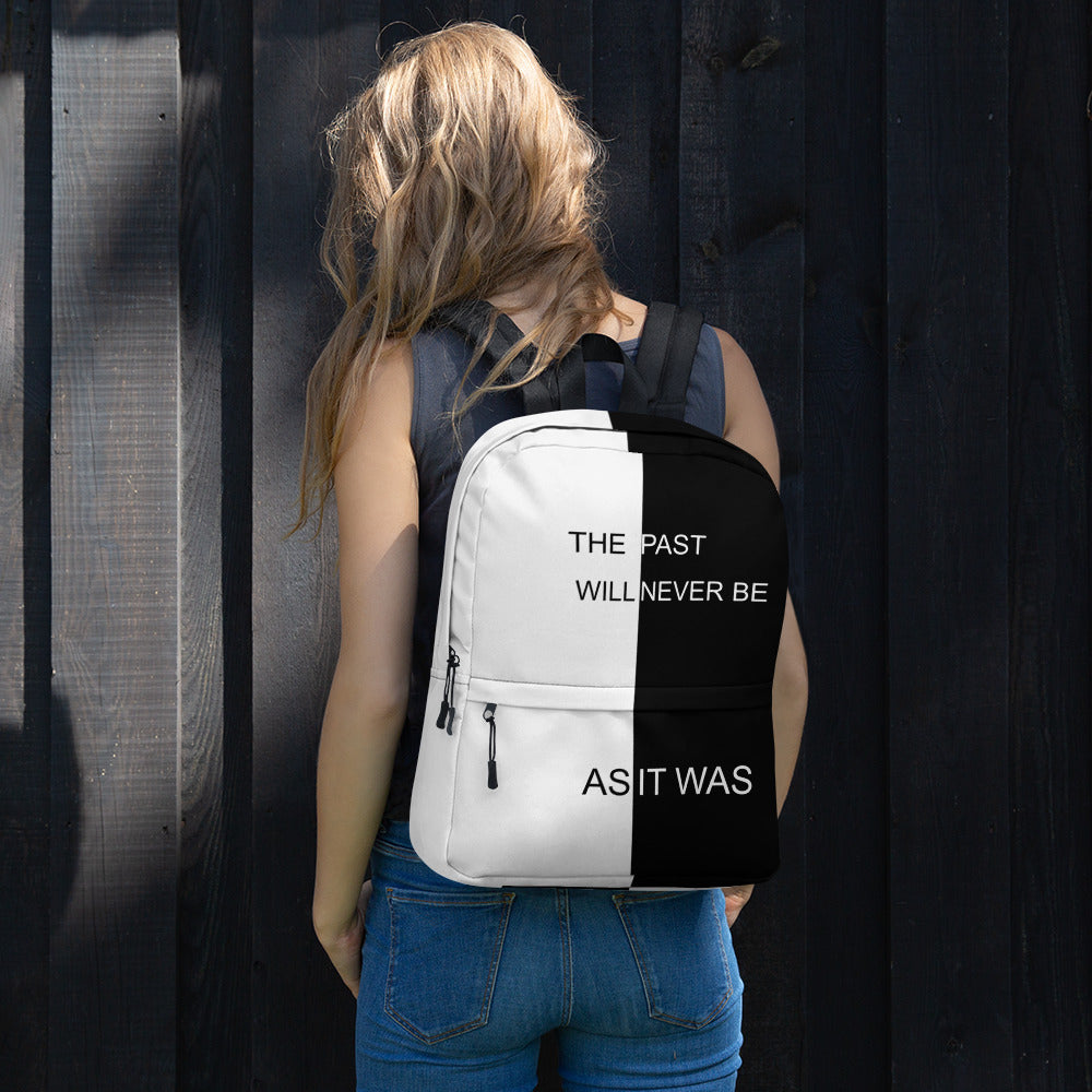 F.R.E.E as it was white and black backpack