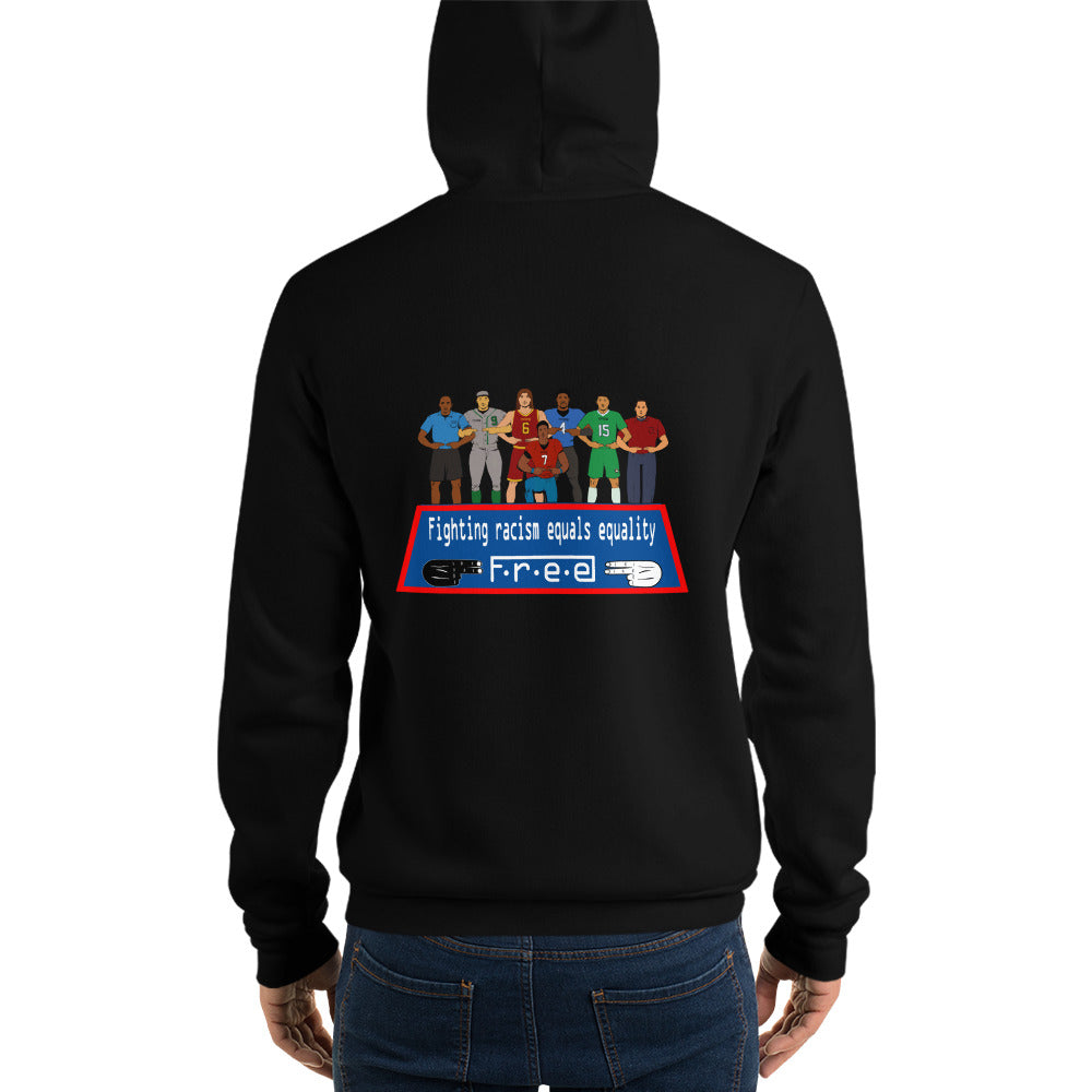 Free supporting what's right unisex hoodie