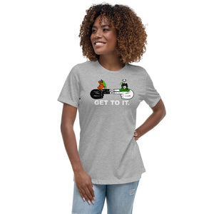 F.r.e.e women's hands with guest relaxed t-shirt