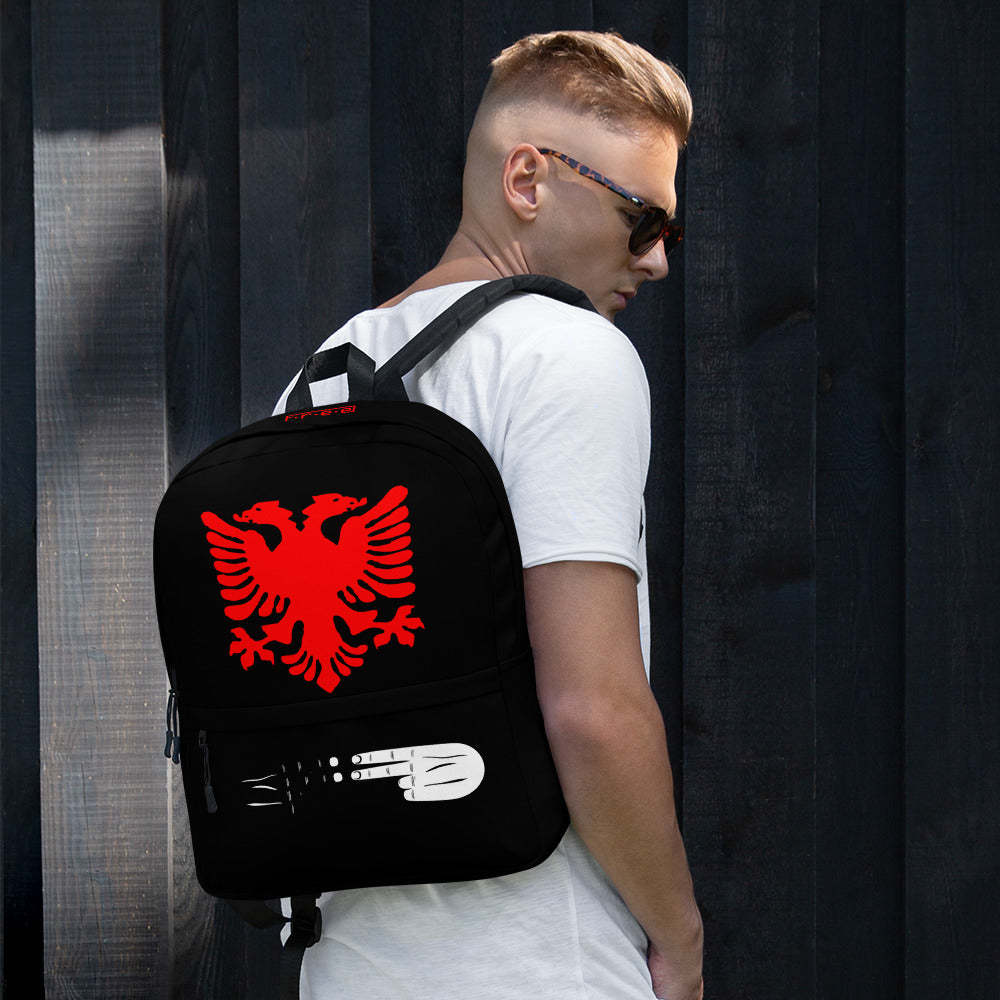 Albanian black backpack