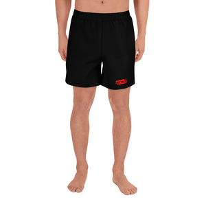 Black GTI red patch Men's Athletic Long Shorts