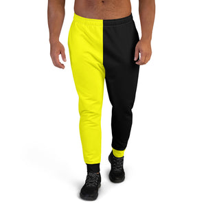F.r.e.e men's black and yellow joggers