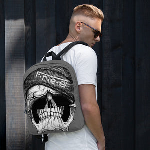 F.R.E.E all over grey skull backpack