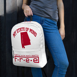 F.R.E.E state of mind Alabama backpack