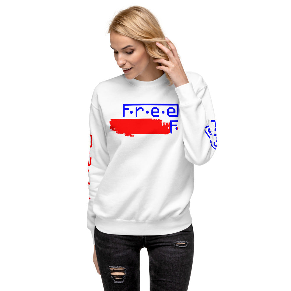 F.r.e.e red,white and blue unisex fleece pullover