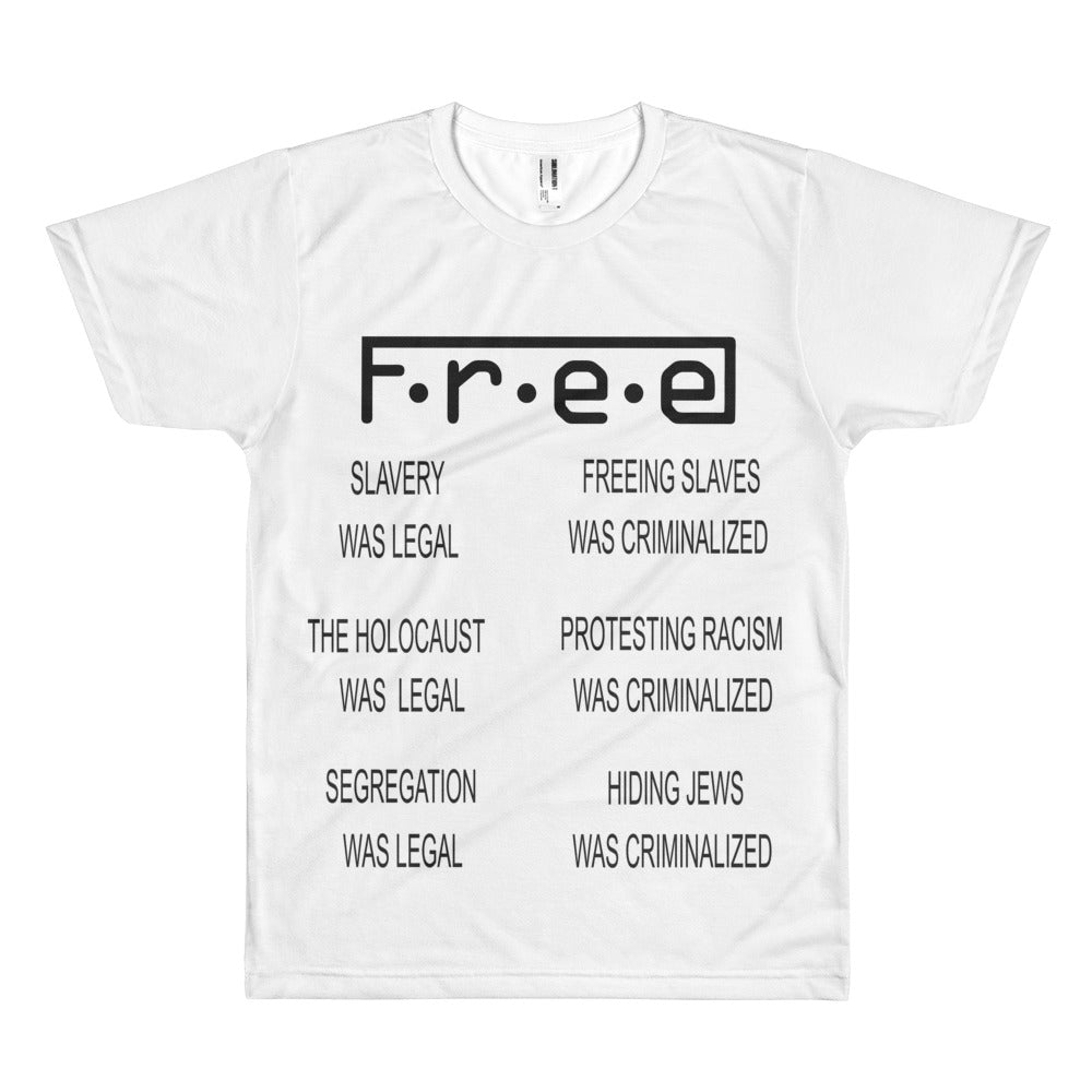 F.R.E.E morally  men's t-shirt