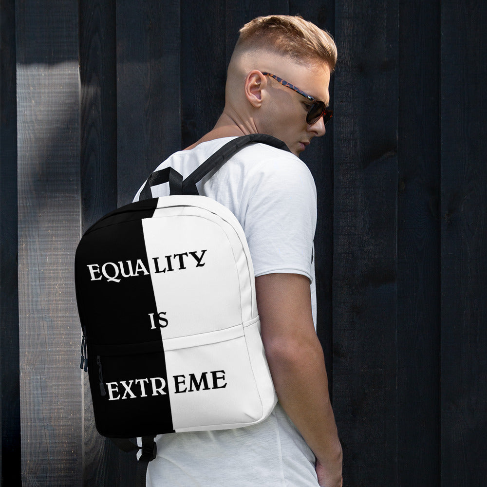 F.R.E.E black and white equality backpack