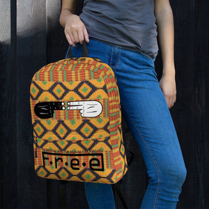 F.R.E.E kente free backpack
