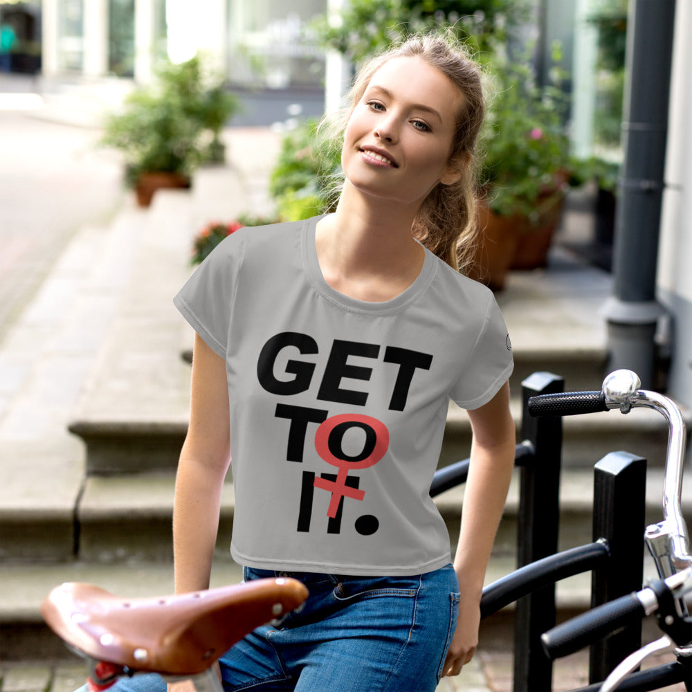 F.r.e.e get to it crop tee