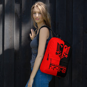Red and black Albanian backpack