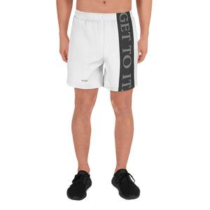 White Black GTI Men's Athletic Long Shorts