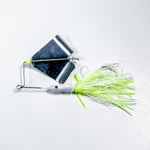 Head Knocker White/White & Chartreuse/Silver Blade