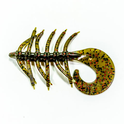 Swamp Bug - Green Pumpkin/Red Flake