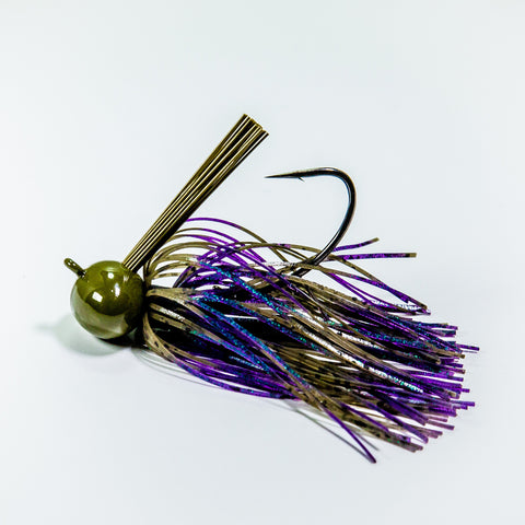 Football Jig - Green Pumkin/Purple