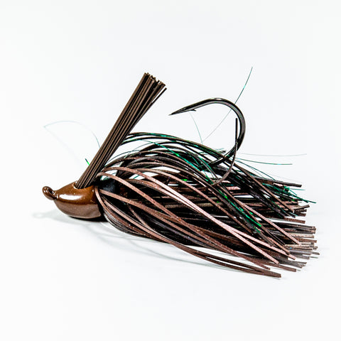 Zapper Jig - Brown w/Green Tinsel