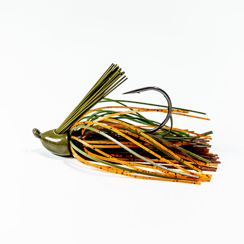 Zapper Jig - Green Pumpkin/Brown/Orange