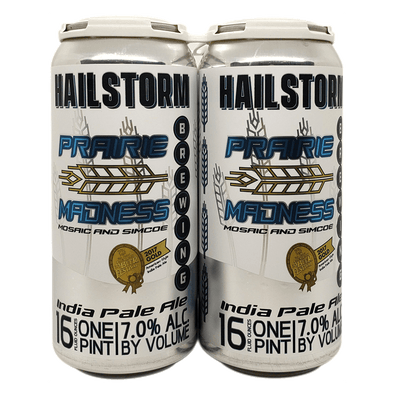 Hailstorm Brewing Prairie Madness 4 pack 16oz Cans (Available for local delivery only.  Must be 21 or over with valid ID upon delivery.)
