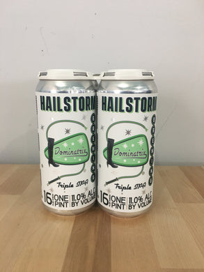 Hailstorm Brewing Dominatrix Triple IPA 4 pack 16oz Cans (Available for local delivery only.  Must be 21 or over with valid ID upon delivery.)