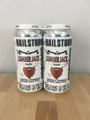 Hailstorm Brewing Lumberjack Latte 4 pack 16oz Cans (Available for local delivery only.  Must be 21 or over with valid ID upon delivery.)
