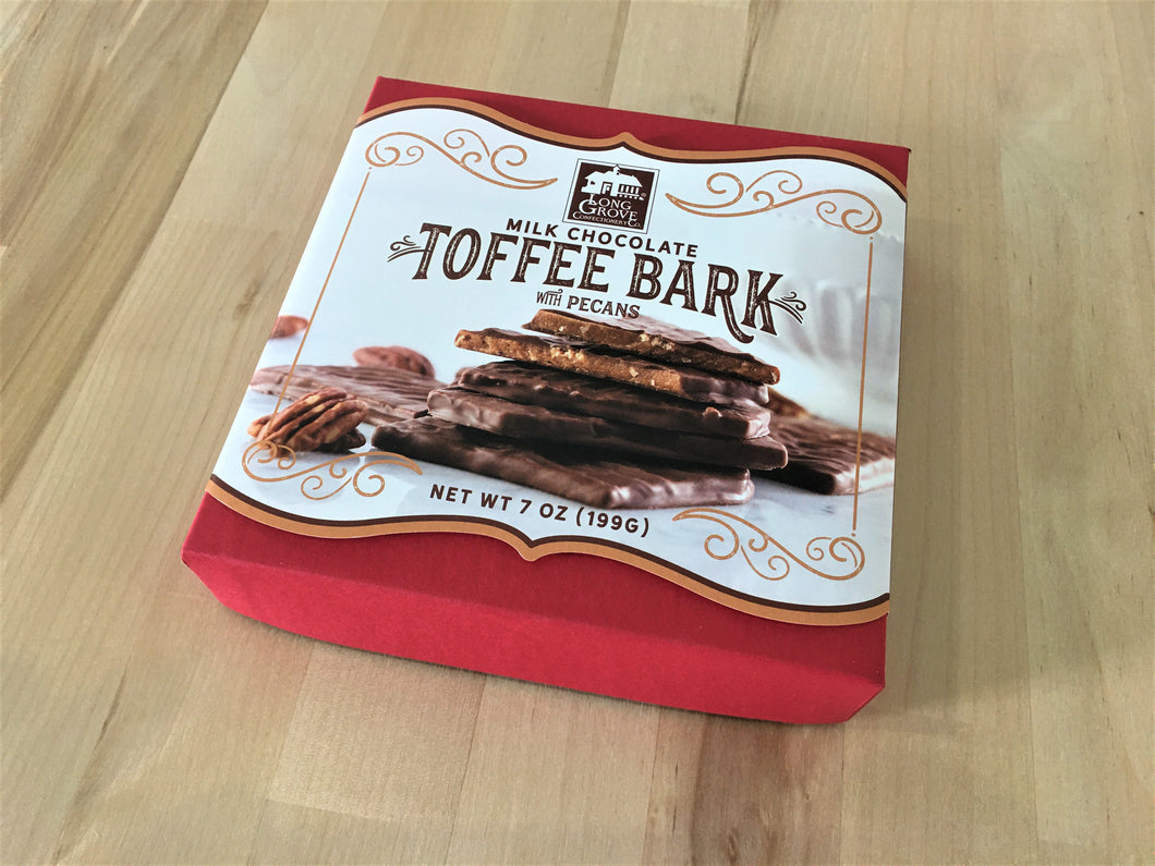 Long Grove Milk Chocolate Toffee Bark Box 7oz