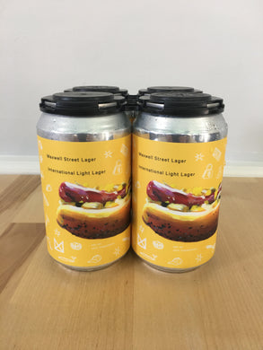 Marz Brewing Maxwell Street Market Lager 4 pack 12oz Cans (Available for local delivery only.  Must be 21 or over with valid ID upon delivery.)