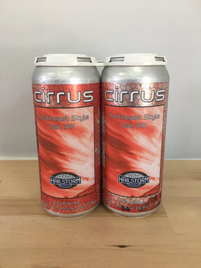 Hailstorm Brewing Cirrus 4 pack 16oz Cans (Available for local delivery only.  Must be 21 or over with valid ID upon delivery.)