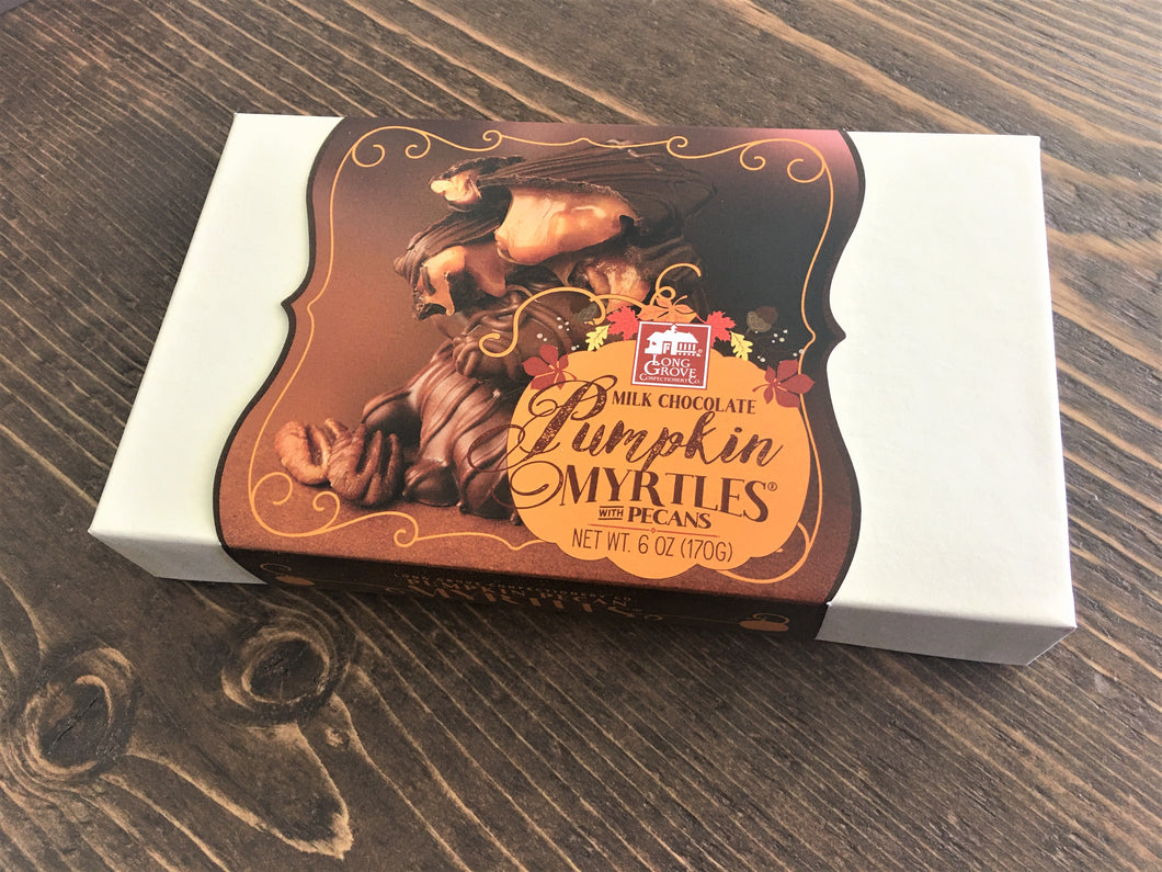 Long Grove Milk Chocolate Pumpkin Pecan Myrtles 6oz