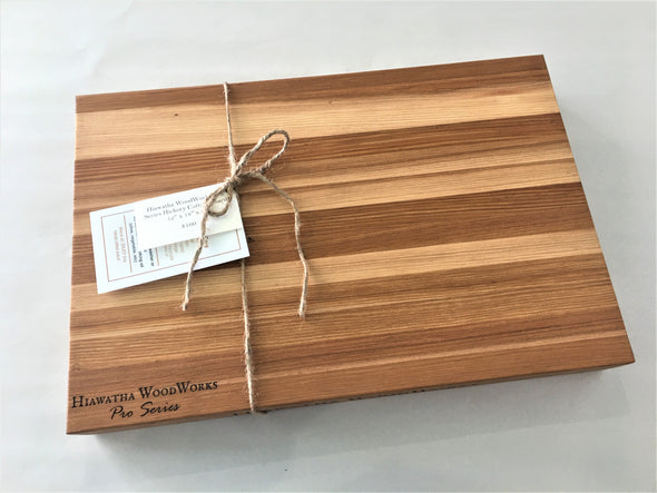 Hiawatha WoodWorks Pro Series Hickory Cutting Board 12″ x 18″ x 2″