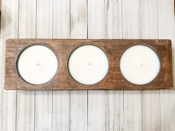 Farmhouse Candle Company Cheese Mold Candle - Triple