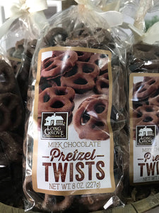 Long Grove Milk Chocolate Pretzel Twists Bag 8oz