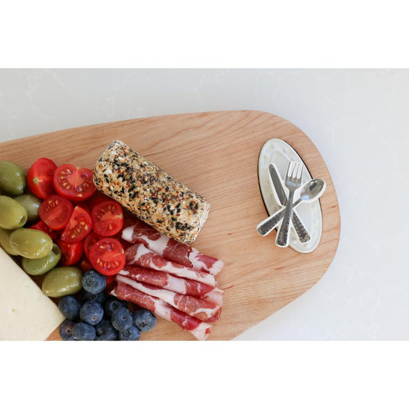 """nora fleming"" Maple Tasting Board, 18"" x 9"""