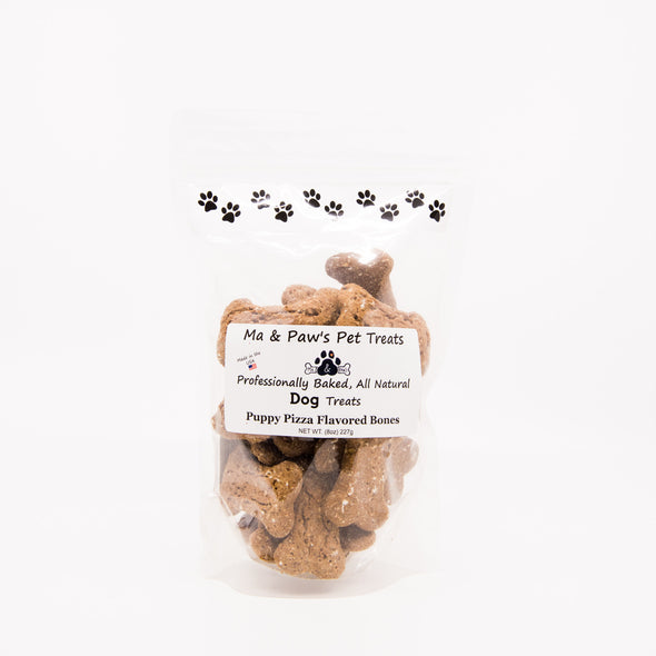 Ma and Paw's Puppy Pizza Bones (2.25 inch) Bag 8oz