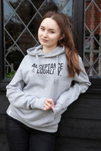 Load image into Gallery viewer, 'Acceptance & Equality' Unisex Grey Hoodie