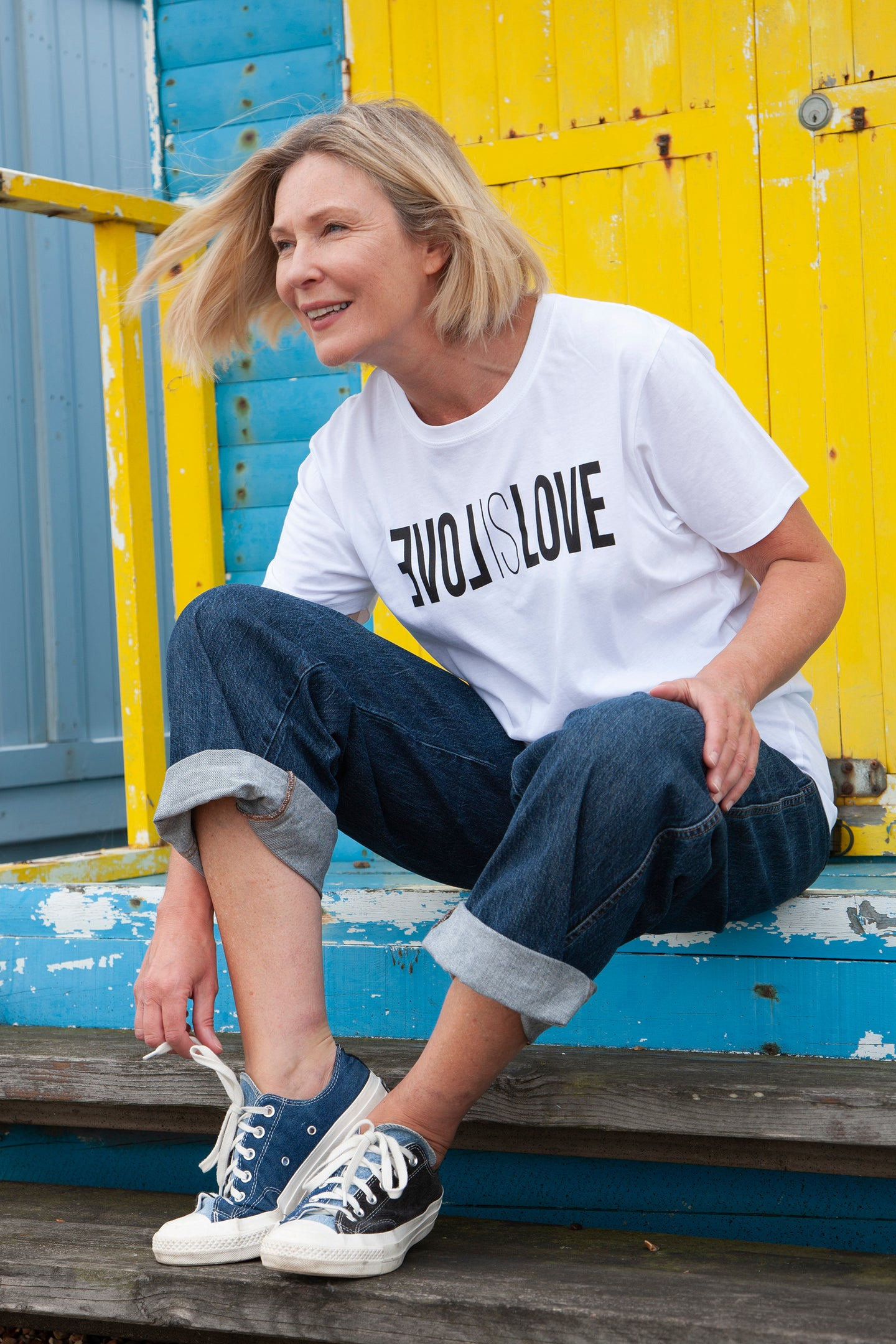 love is love unisex white organic cotton t-shirt