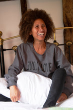 Load image into Gallery viewer, love is love unisex grey organic cotton sweater
