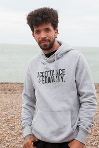 'Acceptance & Equality' Unisex Grey Hoodie