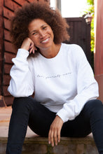 Load image into Gallery viewer, love yourself more self love organic cotton dove white sweater