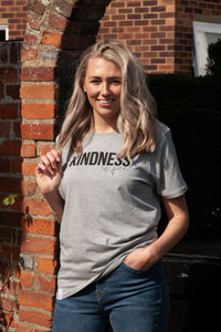 kindness is free organic cotton unisex t-shirt grey