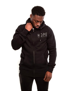 Black Unisex Hoody, Hope - never give up.