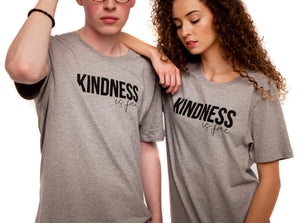 Grey Unisex T-shirt , Kindness is free