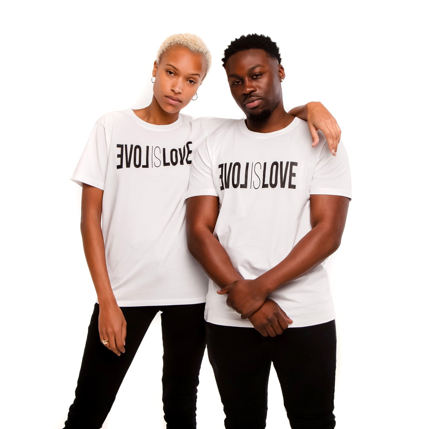 White Unisex T-shirt , Love is love