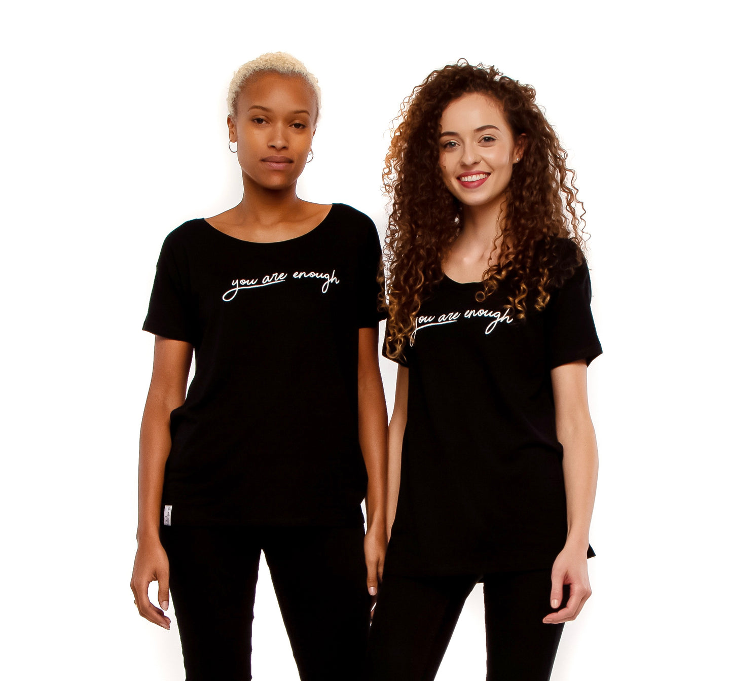 Black Women's Loose fit T-shirt , You are enough