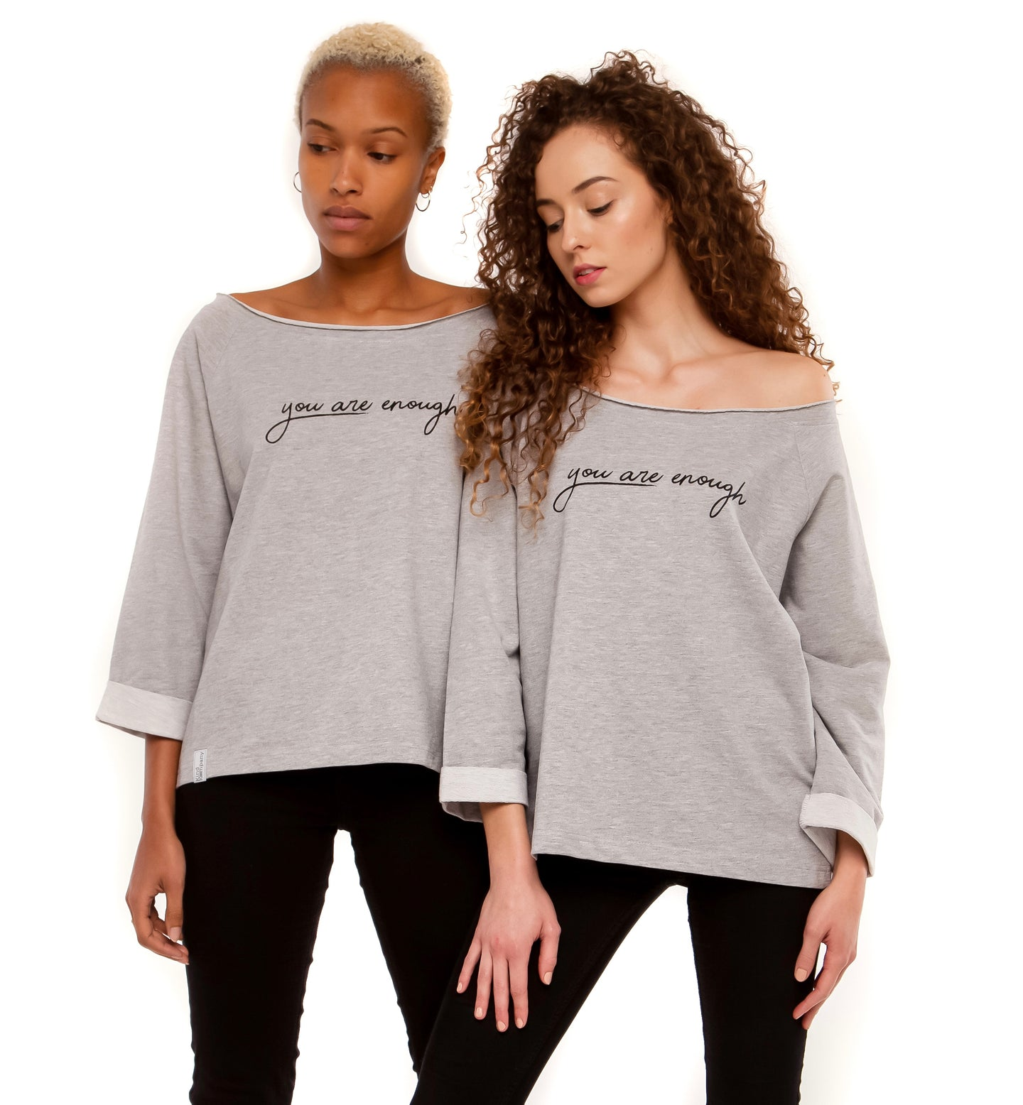 Grey Women's Sweater , You are enough